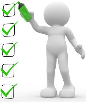 Einzelkartenoffset-Checkliste