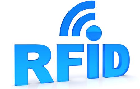 RFID Text in blau