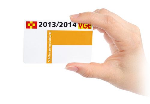 Plastikkarte für Schüler und Studenten