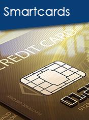 Goldene Smartcards mit Chip