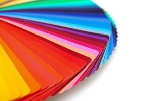 Bedruckte Plastikkarten in verschiedenen Farben
